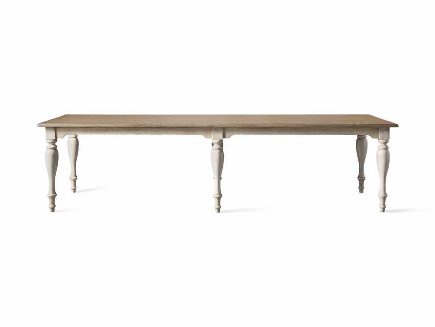"Adriana 118"" Rectangle Dining Table in Antique Blond/Neve Base, slide 8 of 8"