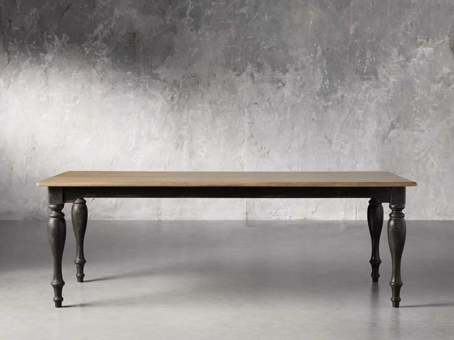 "Adriana 86"" Rectangle Dining Table in Antique Blonde/Black Base, slide 2 of 6"