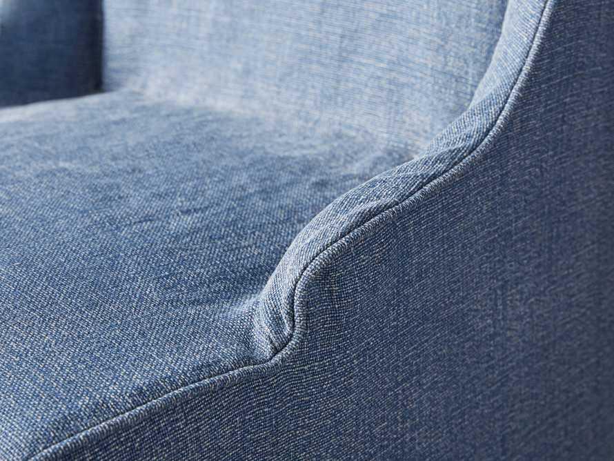 "Alice Slipcovered 24"" Dining Chair in Indigo Linen"