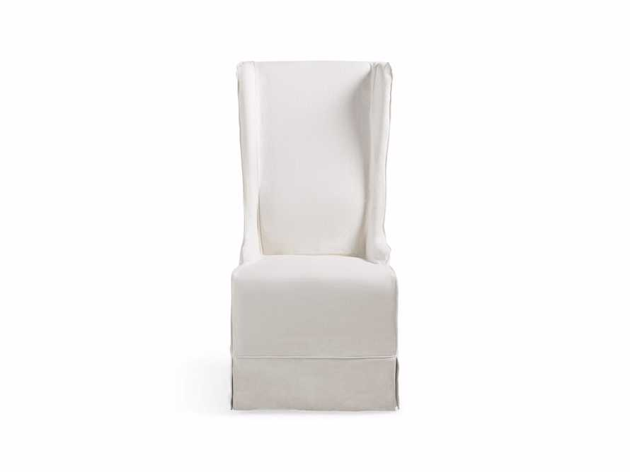 "Alice Slipcovered 24"" Dining Side Chair in White Washed Linen"