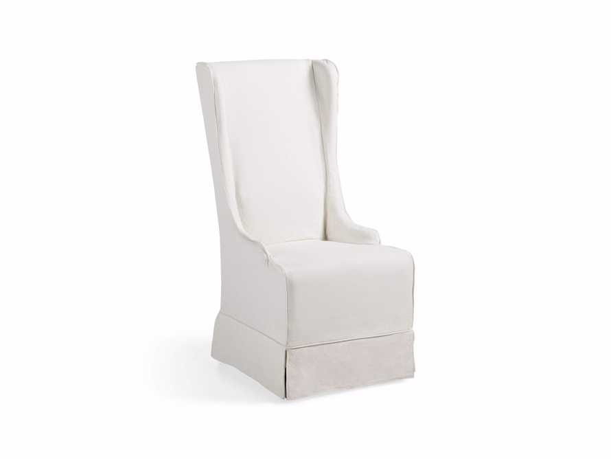 "Alice Slipcovered 24"" Dining Side Chair in White Washed Linen - Come take a peek at more Arhaus French Vintage Timeless Furniture, Decor and Lighting on Hello Lovely Studio."