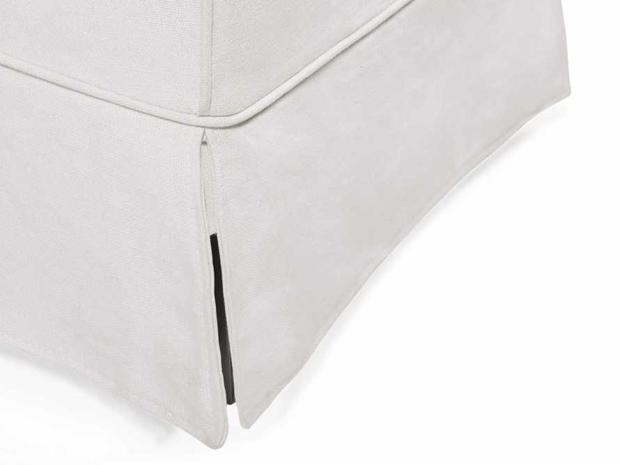"Alice Slipcovered 24"" Dining Side Chair in White Washed Linen, slide 6 of 10"