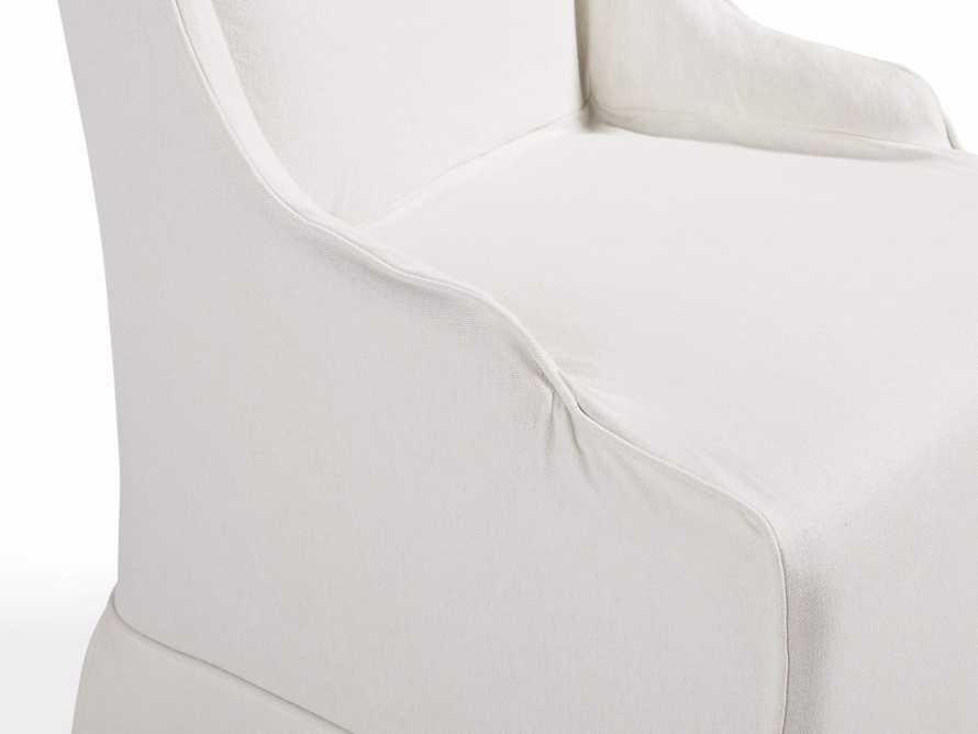 "Alice Slipcovered 24"" Dining Side Chair in White Washed Linen, slide 7 of 10"