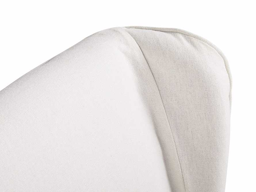 "Alice Slipcovered 24"" Dining Side Chair in White Washed Linen, slide 8 of 10"