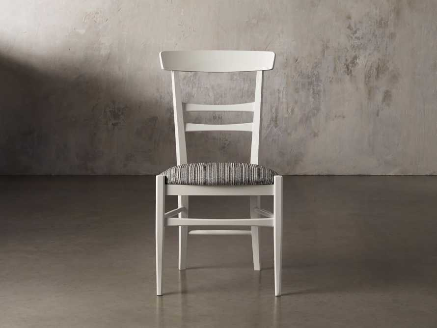 Allora Dining Chair in All White, slide 3 of 10