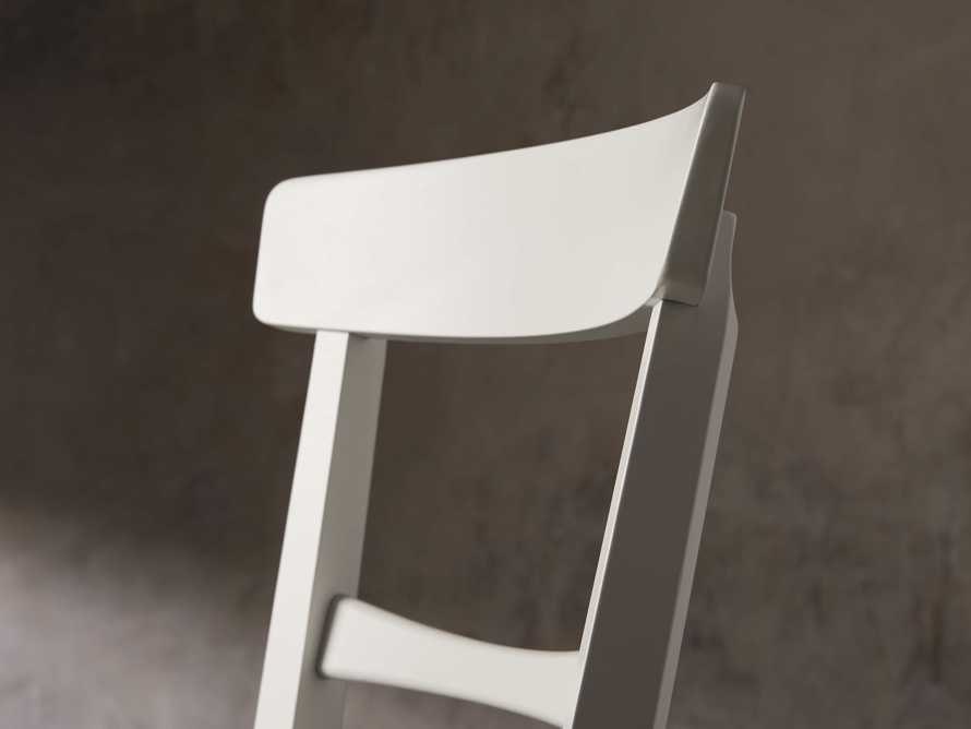 Allora Dining Chair in All White, slide 8 of 10
