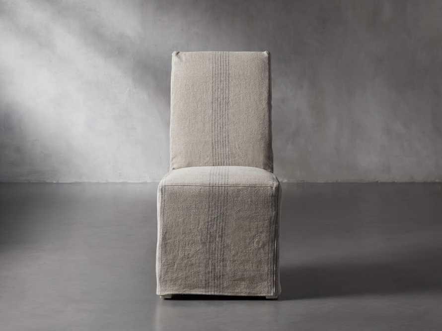 "Alma Slipcovered 20"" Dining Side Chair, slide 2 of 11"
