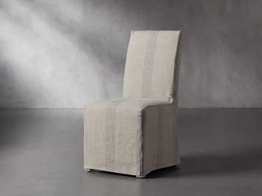 "Alma Slipcovered 20"" Dining Side Chair, slide 3 of 11"