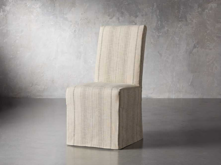 "Alma Slipcovered 20"" Dining Side Chair, slide 3 of 8"