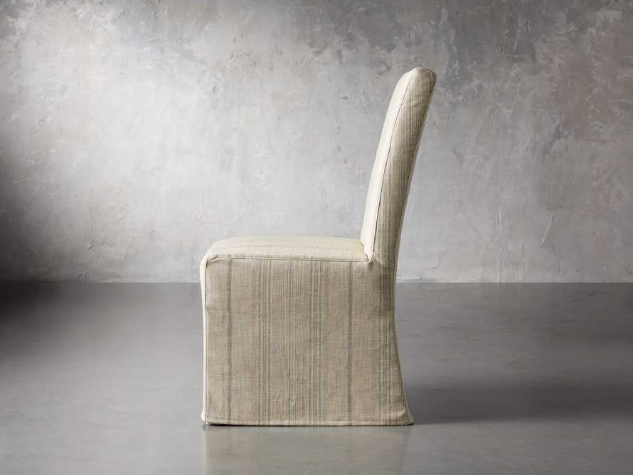 "Alma Slipcovered 20"" Dining Side Chair, slide 4 of 8"