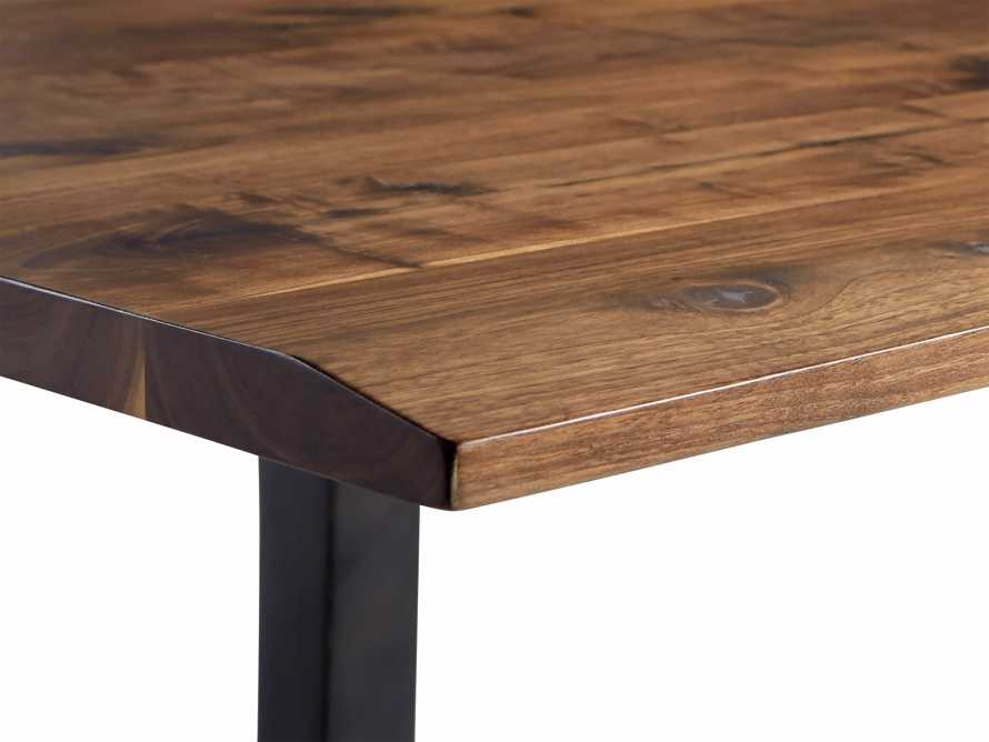 "Ansel 84"" Dining Table in Brown Walnut"