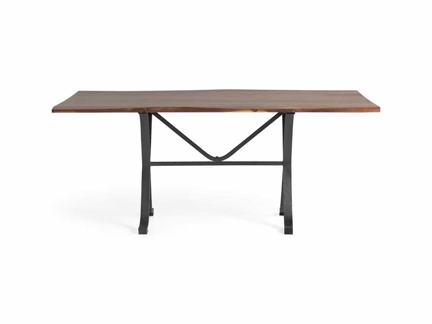 """Ansel 60"""" Brown Walnut Dining Table with Arvada Base, slide 1 of 5"""