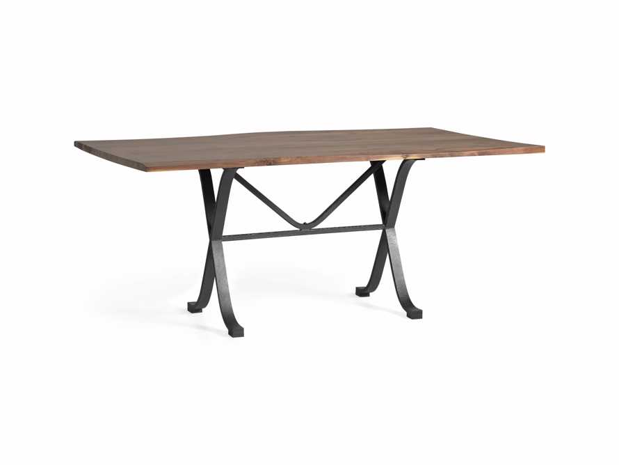 """Ansel 60"""" Brown Walnut Dining Table with Arvada Base, slide 2 of 5"""