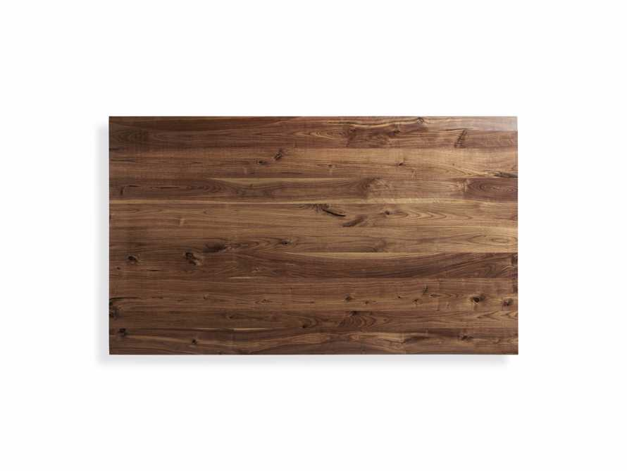 """Ansel 60"""" Brown Walnut Dining Table with Arvada Base, slide 3 of 5"""