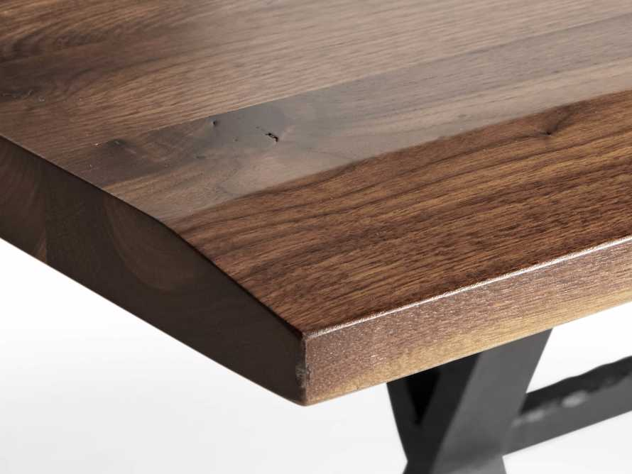 """Ansel 60"""" Brown Walnut Dining Table with Arvada Base, slide 4 of 5"""