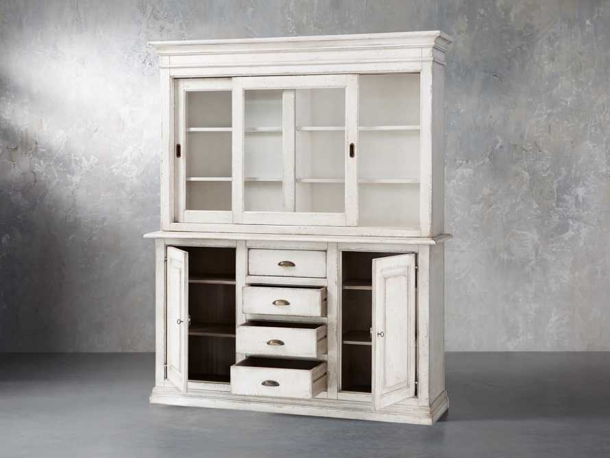 "Arturo 74"" Bell'Arte Hutch and Buffet in Bianco"
