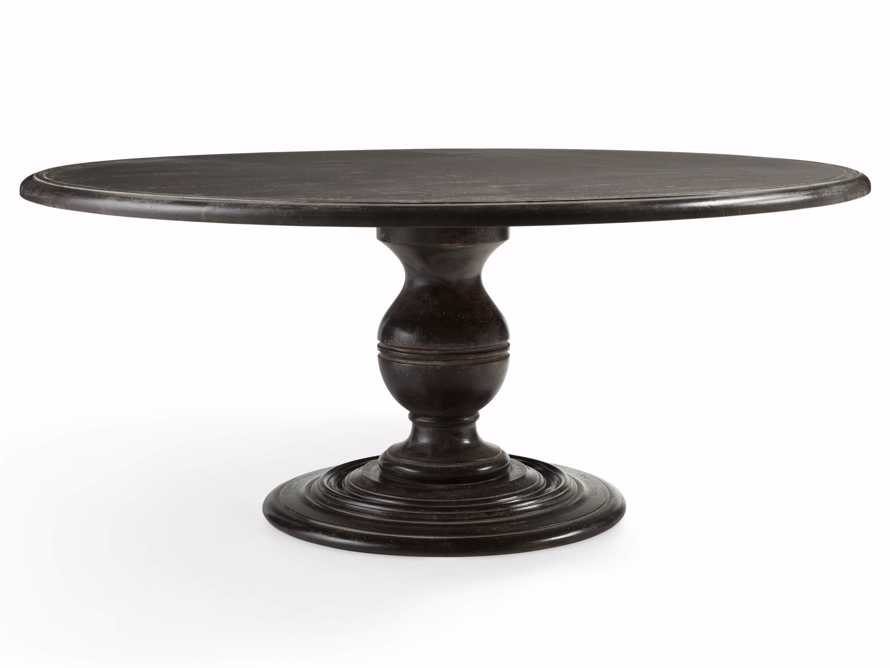 "Asolo 60"" Worn Black Dining Table, slide 2 of 4"
