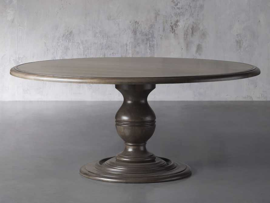 "Asolo 60"" Round Dining Table in porfido, slide 1 of 3"