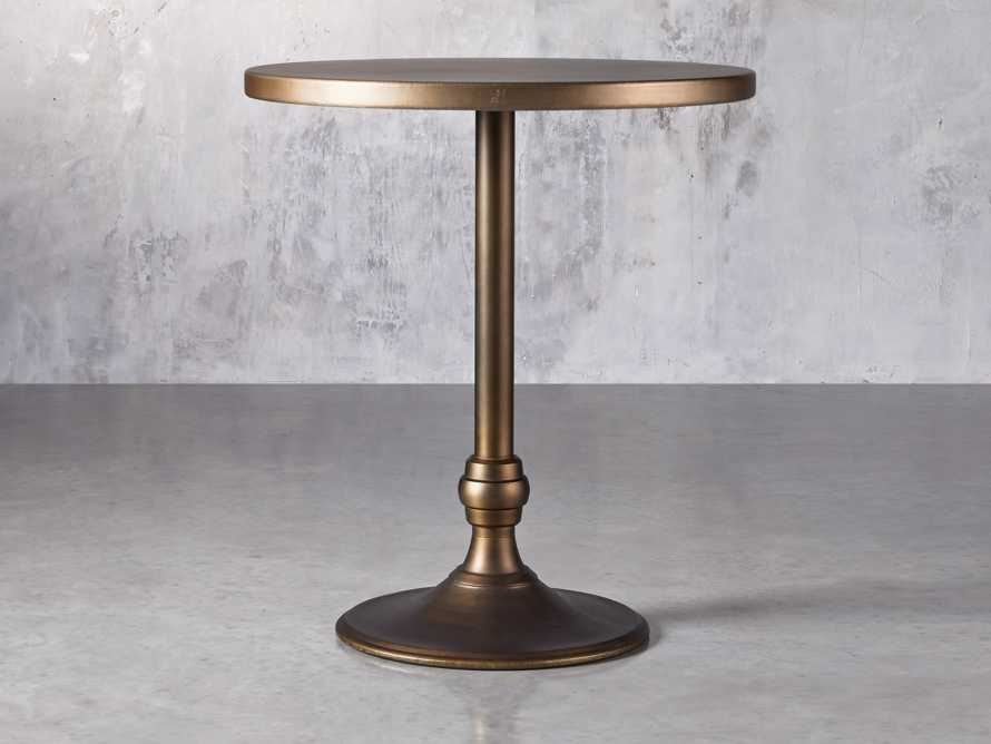 "Brass Aluminum 36"" Bar Table with Wade Base, slide 1 of 4"