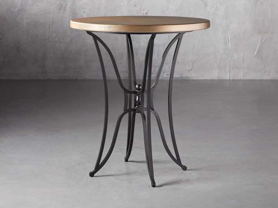 "Brass Aluminum 38"" Bar Table with Kenya Base, slide 1 of 4"