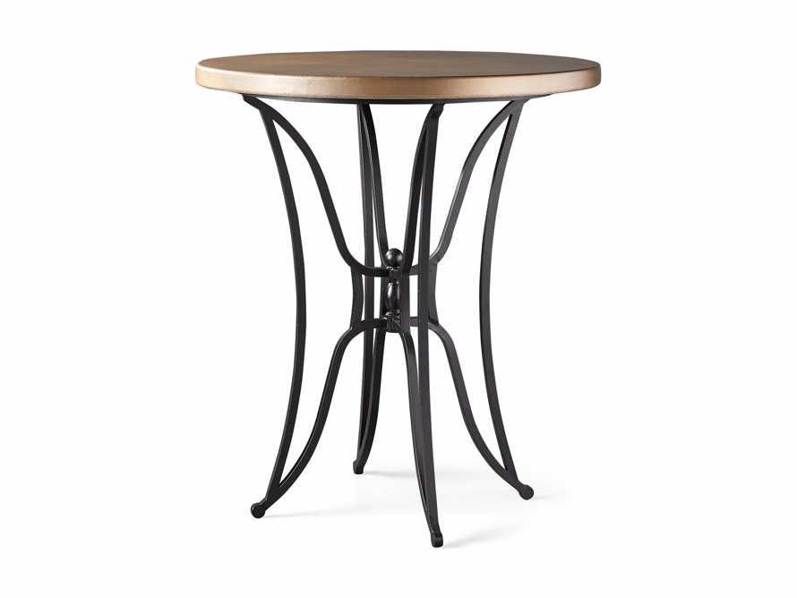 "Brass Aluminum 38"" Bar Table with Kenya Base, slide 4 of 4"