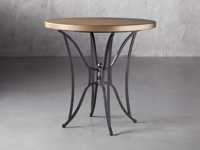 """Brass Aluminum 38"""" Counter Table with Kenya Base"""