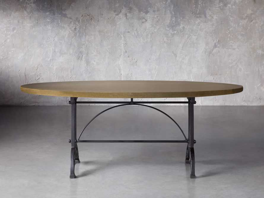 "Brass Aluminum 90"" x 52"" Dining Table with Chantel Base, slide 2 of 6"