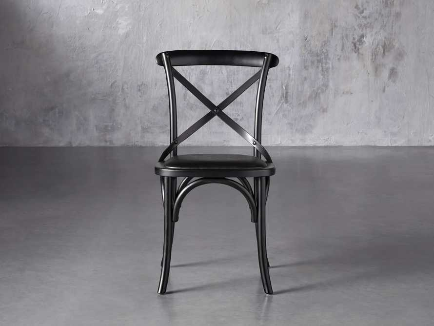 "Cadence 20"" Dining Side Chair with Faux Black Leather Seat in Solid Black, slide 1 of 8"
