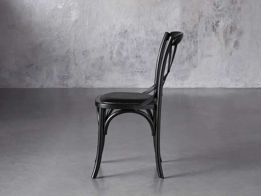 "Cadence 20"" Dining Side Chair with Faux Black Leather Seat in Solid Black, slide 3 of 8"