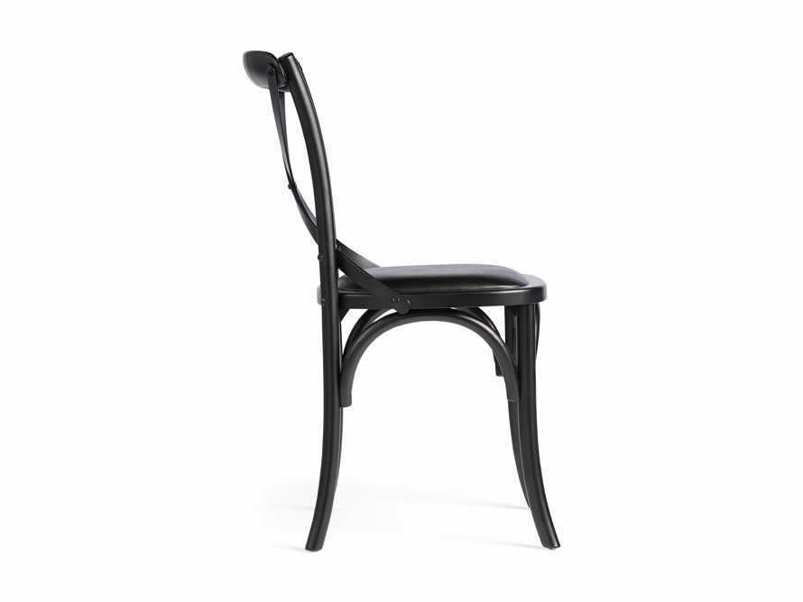 "Cadence 20"" Dining Side Chair with Faux Black Leather Seat in Solid Black, slide 8 of 8"