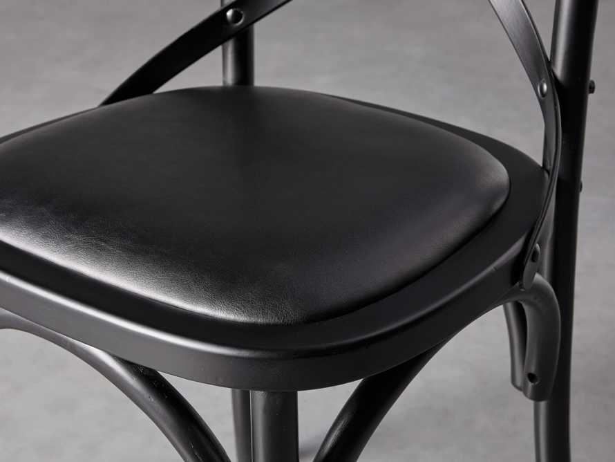 "Cadence 20"" Dining Side Chair with Faux Black Leather Seat in Solid Black, slide 5 of 8"
