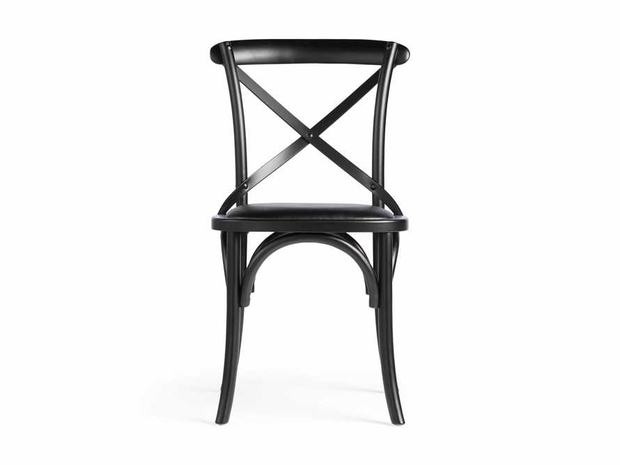 "Cadence 20"" Dining Side Chair with Faux Black Leather Seat in Solid Black, slide 7 of 8"