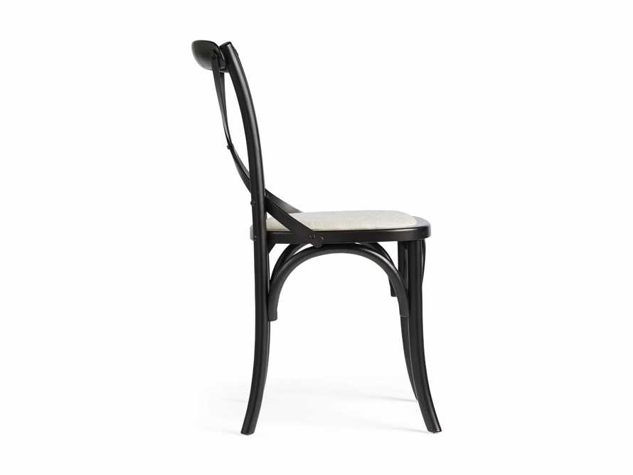 "Cadence 20"" Dining Side Chair with Linen Seat in Solid Black, slide 8 of 8"