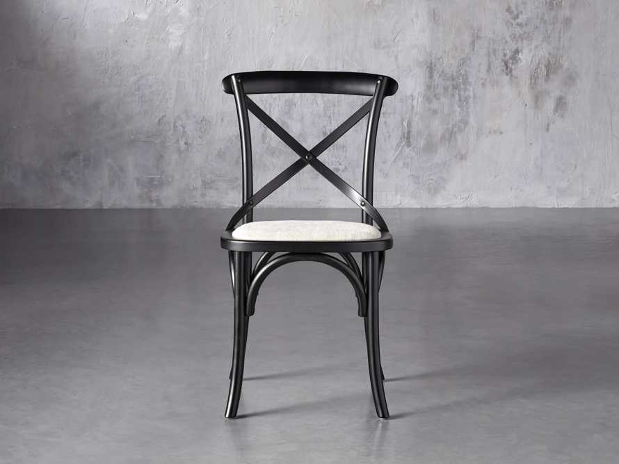 "Cadence 20"" Dining Side Chair with Linen Seat in Solid Black, slide 1 of 8"