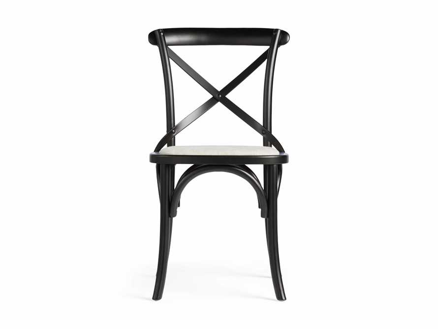 "Cadence 20"" Dining Side Chair with Linen Seat in Solid Black, slide 7 of 8"