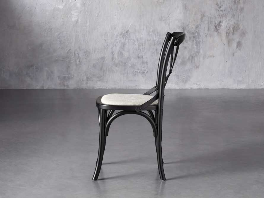 "Cadence 20"" Dining Side Chair with Linen Seat in Solid Black, slide 3 of 8"
