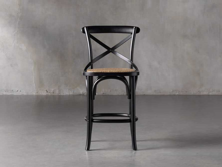 Cadence Counter Stool in Solid Black, slide 1 of 8