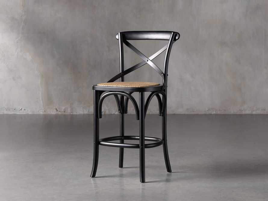 Cadence Counter Stool in Solid Black, slide 2 of 8