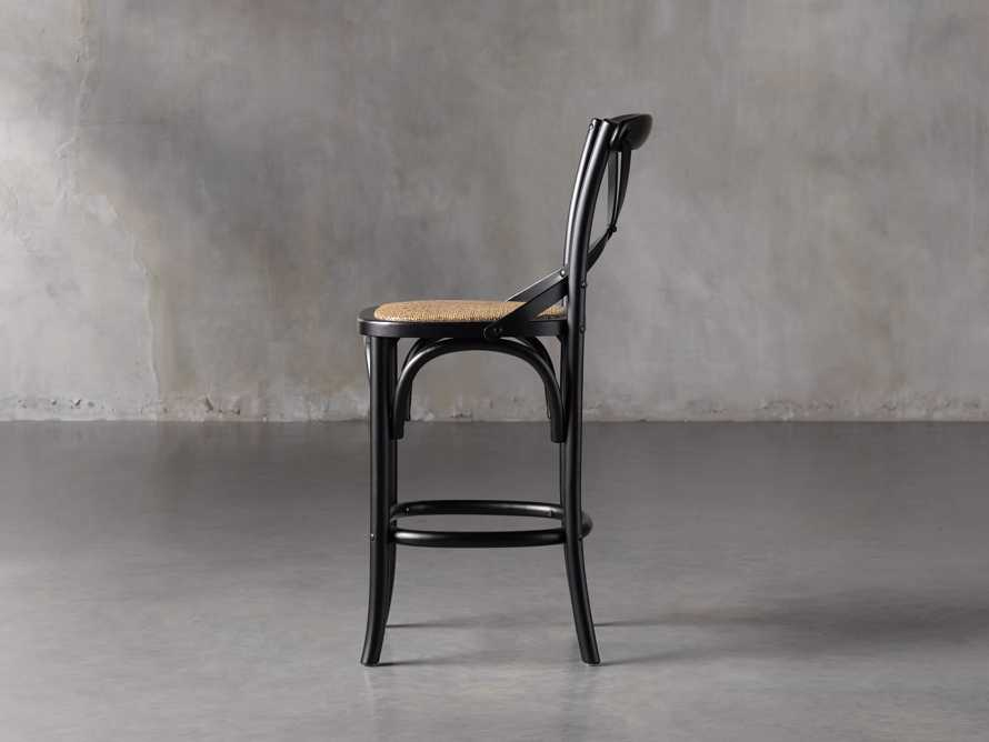 Cadence Counter Stool in Solid Black, slide 3 of 8
