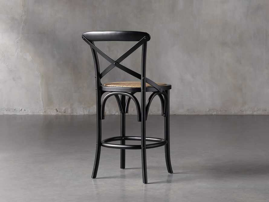 Cadence Counter Stool in Solid Black, slide 4 of 8