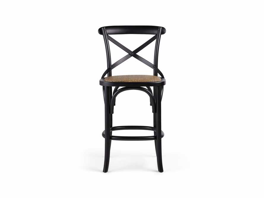 Cadence Counter Stool in Solid Black, slide 7 of 8