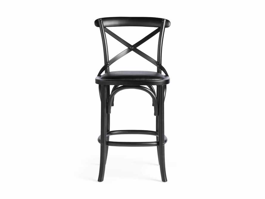 "Cadence 20"" Counter Stool with Faux Black Leather Seat in Solid Black, slide 7 of 8"