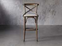 """Cadence 20"""" Barstool with Linen Seat in Dark Brown"""