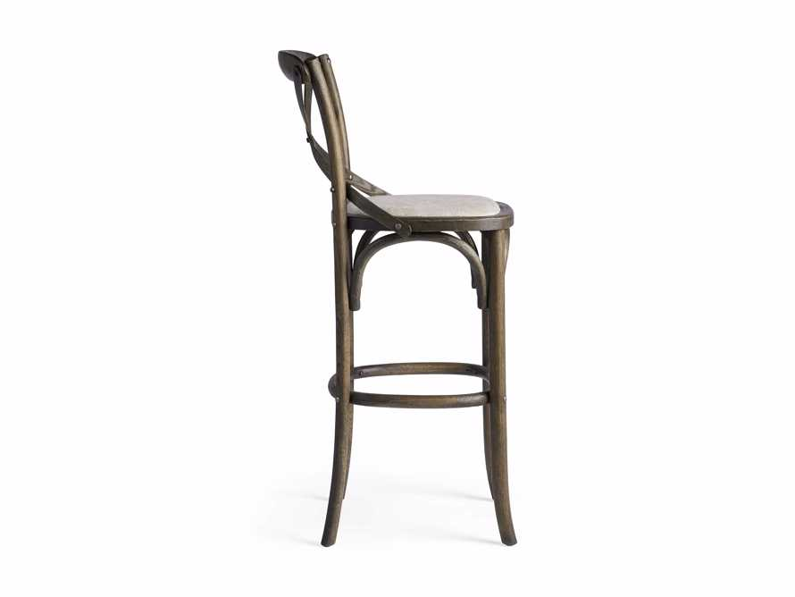 Cadence Barstool with Linen Seat in Dark Brown, slide 6 of 6