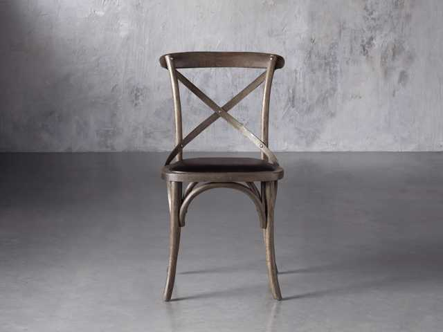 Cadence Dining Chair With Black Faux Leather Seat Arhaus
