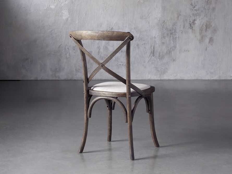 Cadence Dining Side Chair with Linen Seat in Dark Brown, slide 4 of 8