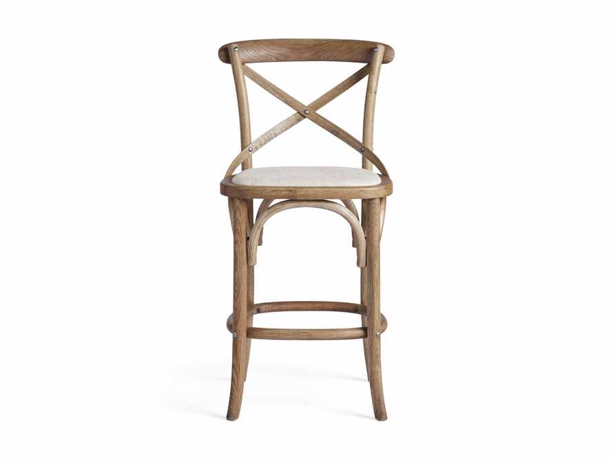 "Cadence 20"" Counter Stool with Linen Seat in Natural Weathered, slide 7 of 8"