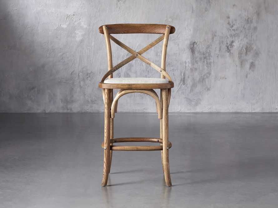 "Cadence 20"" Counter Stool with Linen Seat in Natural Weathered, slide 1 of 8"