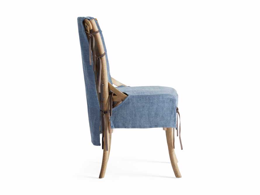 Cadence Dining Chair Slipcover in Indigo Linen, slide 8 of 9