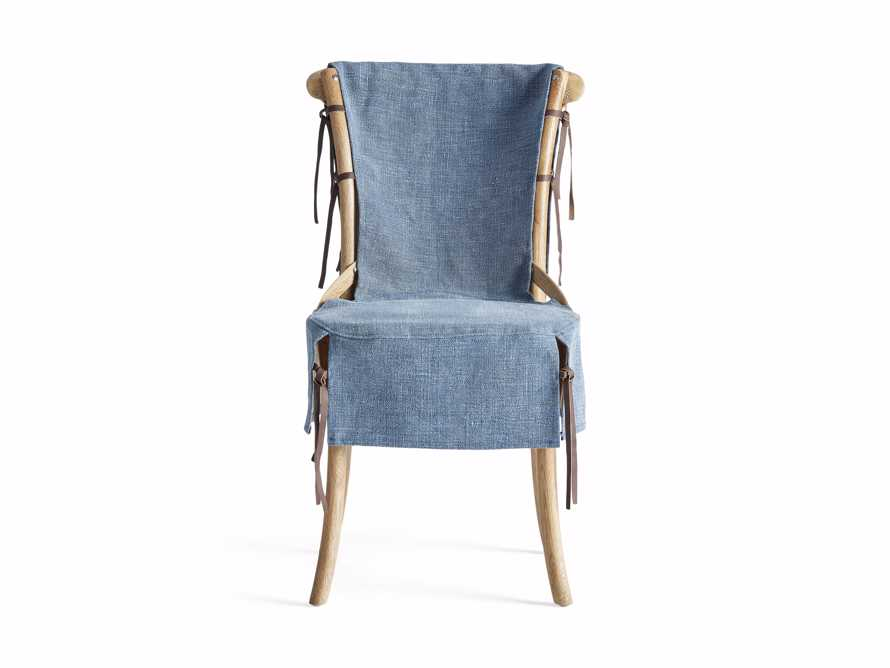 Cadence Dining Chair Slipcover in Indigo Linen, slide 7 of 9